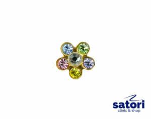 Серьга-цветочек для прокола ушей