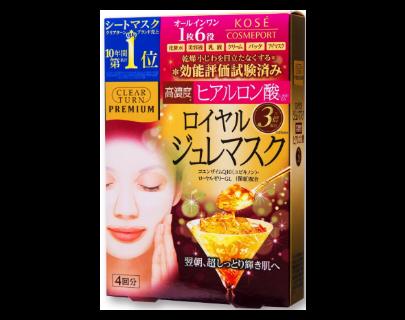 Гидрогелевая маска с гиалуронкой и маточным молочком японская